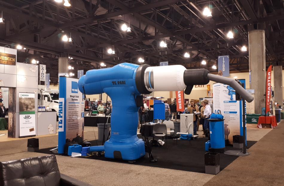Te Pari's signature drench gun stands out at the National Cattlemen's Beef Association Trade Show in Phoenix, Arizona, last month. Photos: Supplied