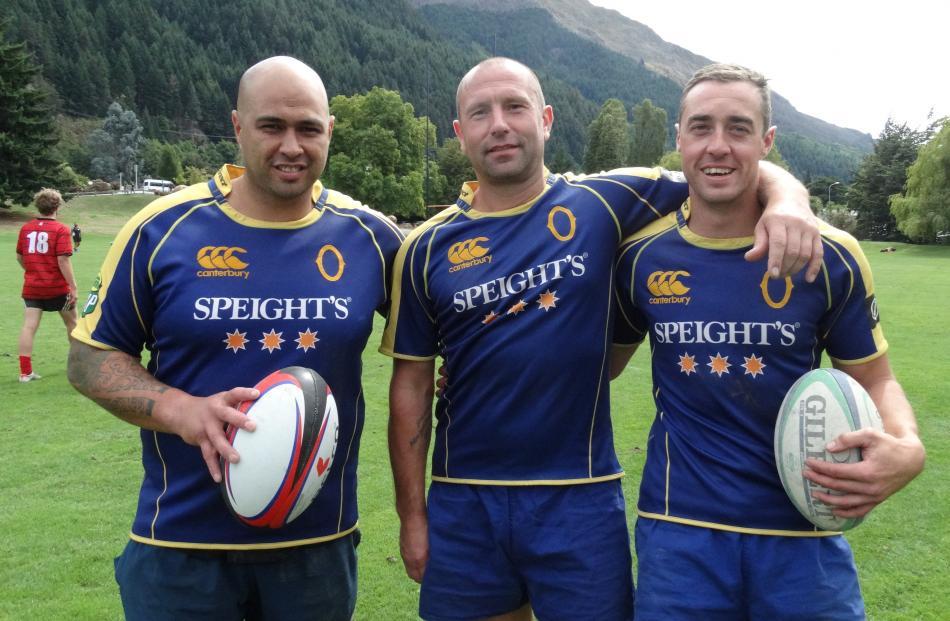 Shane Unahi, Mike Taylor and Calvin Harradine, all of Dunedin.