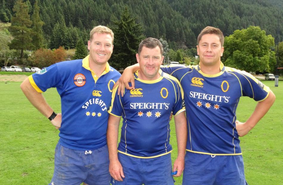 Andrew McAuley, Peter Brosnan and Sam Todd, all of Dunedin.