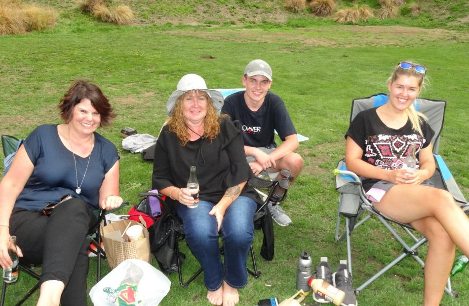 Emma Kini, Debbie and Josh Steele (15), all of Bluff, with Sonja Kahila, of Queenstown.