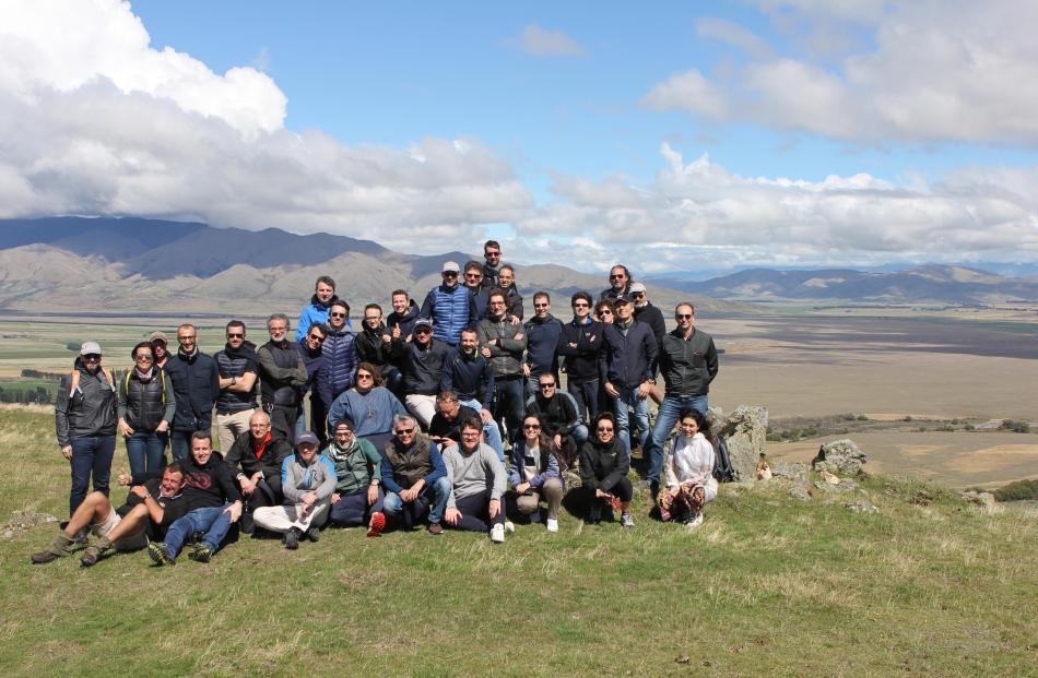 Staff from Italian textile company Reda enjoy an outing to Glenrock Station in the Mackenzie.