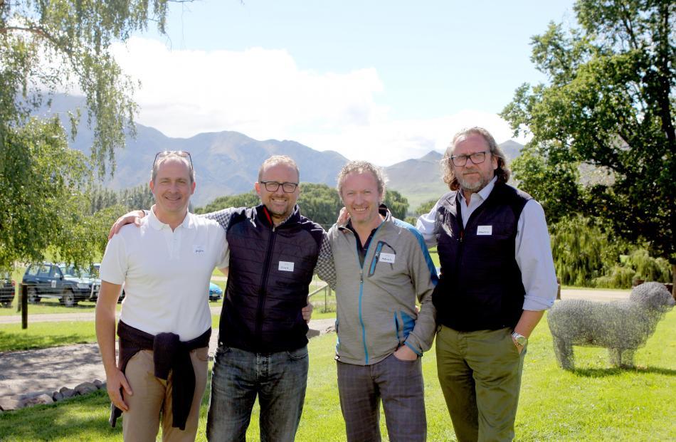 Reda staff (from left) Guglielmo Botto Poala, chief executive Ercole Botto Poala, Fabrizio Botto Poala and Francesco Botto Poala during this month's visit to New Zealand. Photos: Supplied