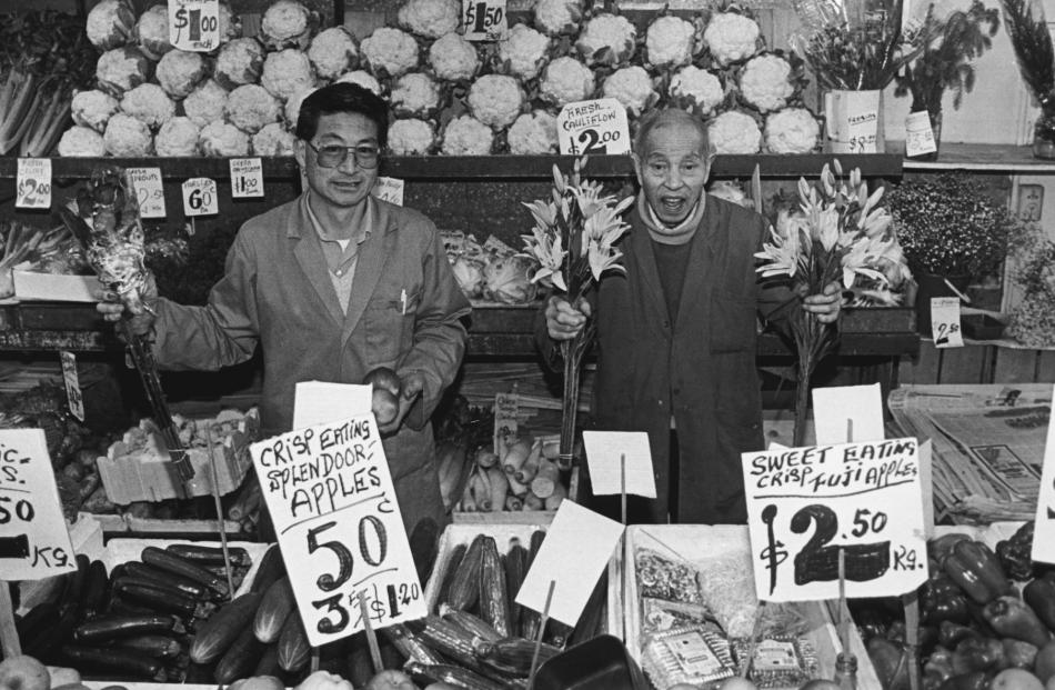 Operators of the Wing On and Co shop in George St, Dunedin, pictured about 1994, Kai Wing Kan ...
