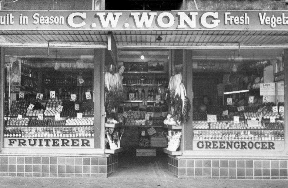 The former C.W. Wong shop in Hillside Rdd, Dunedin, co-owned by George Wong  and Bill Wong.