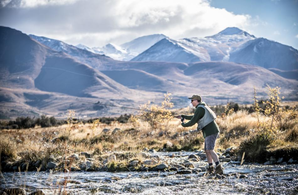 Chris White loves returning to the central South Island to indulge his passion for fishing. Photo...