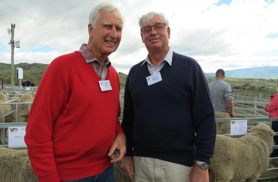 Brothers John Paterson (left), of Alexandra, and Martin Paterson, of Wanaka, were on the tour....