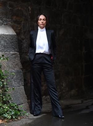 Darlene Gore's tailored fashion.