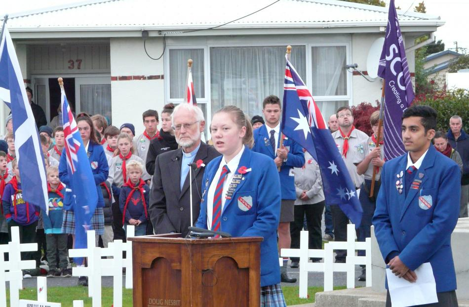 South Otago High School head girl Briar Mills (17) reflects on her changing perception of Anzac...