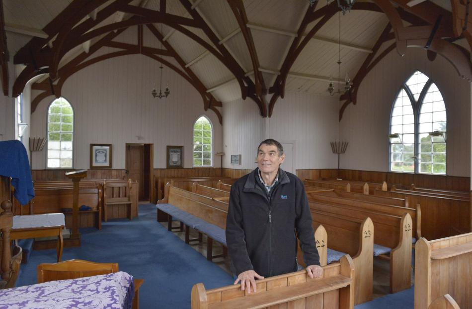 Pukehiki Church Trust member Derrick Railton inside the building,  which might cost up to $500...