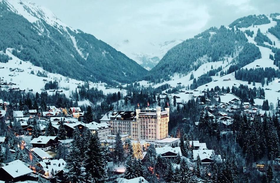 The high-end alpine resort town of Gstaad.
