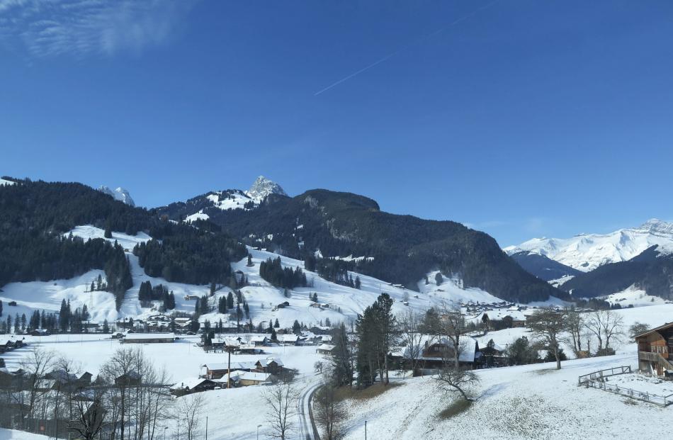 The views showed an alpine winter wonderland.
