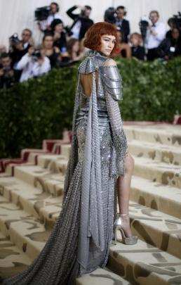 Actress Zendaya went for Crusades-inspired chain-mail outfit. Photo: Reuters