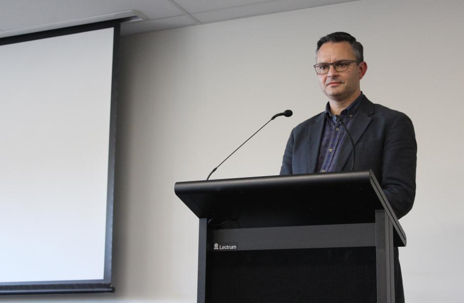 Greens party co-leader and Minister for Climate Change James Shaw faces farmers on the hot topic of climate change at the Southland Federated Farmers AGM.