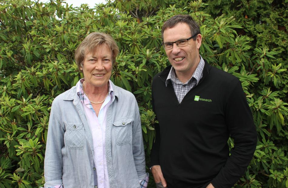 Dr Christine Jones and Dr David Stevens at the Regenerative Farming Field Day at Clinton Community Centre on Tuesday. Photos: Ella Stokes
