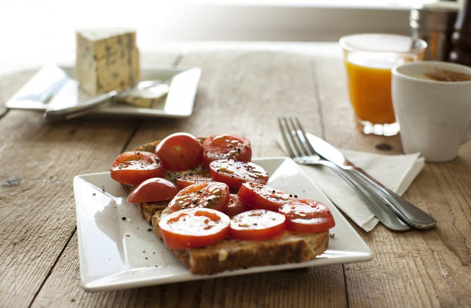 Toast Simon Berry-style — tomatoes and blue cheese on toast. Photos: Supplied