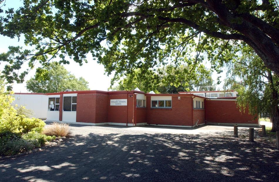 Wyllies Crossing School in 2003. Photo: ODT