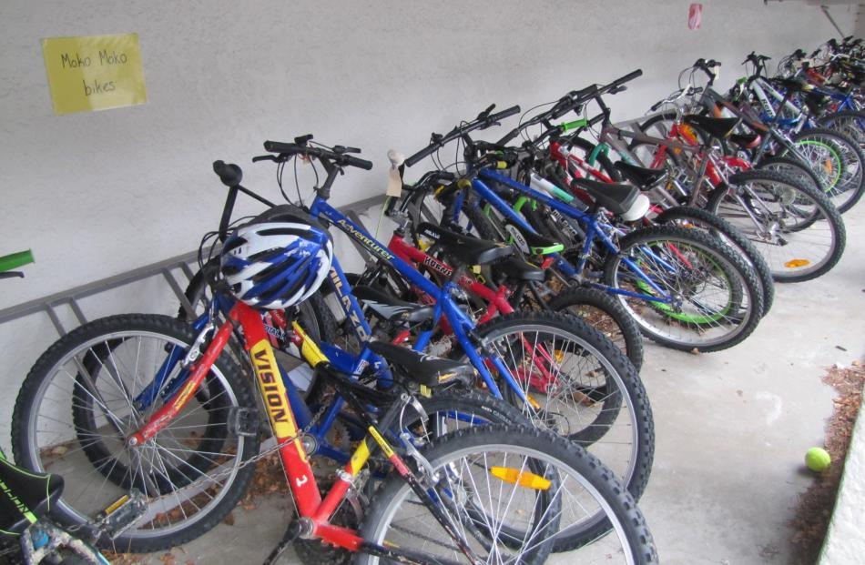 Bicycles wait to be used at the  Roxburgh children's village.