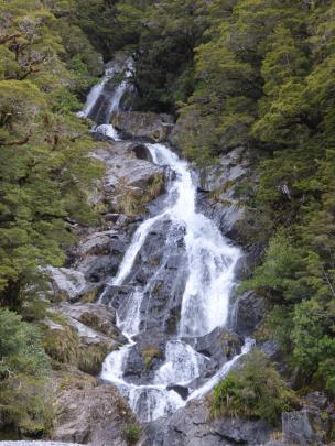 I stopped frequently in the Haast Pass to admire the gushing waterfalls.