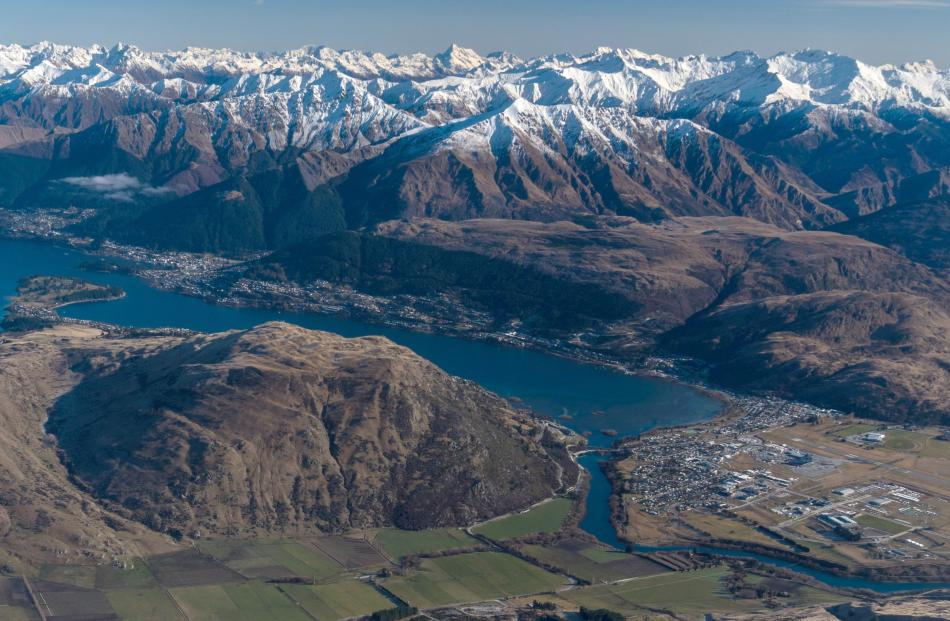 This photo, taken from the Remarkables recently, shows the growth that has happened in the...