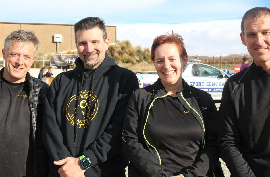 Richard Fletcher, Chad Benham, Suzanne Benham and James Musgrove, all of Dunedin.