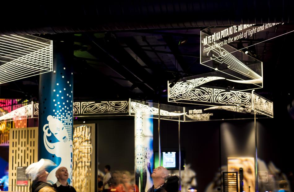 Tuhura at Otago Museum showing the signage and fit-out by Miller Creative Group. Photo: Derek Morrison