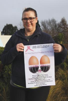 Leona McCracken, organiser of the 2018 Te Anau Pink Ribbon Breast Cancer Awareness and...
