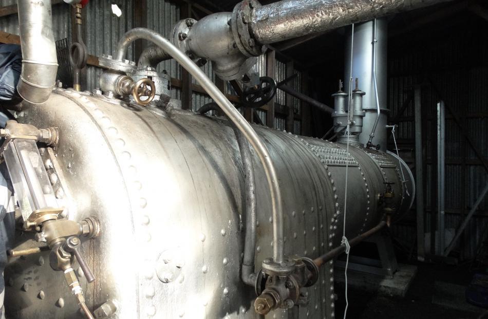 Steam boiler taken from the original paddle steamer Antrim.