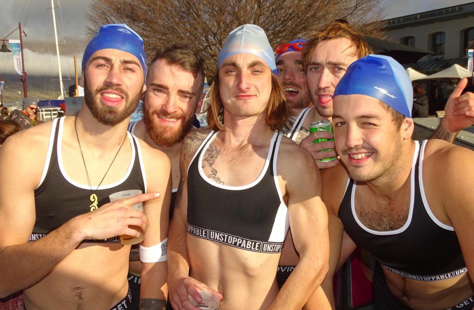The ''Slithery Snakes'' team of Christchurch friends (from left) Tyler Reardon, Floyd McNabb, Joe...