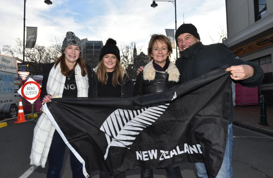 Fans were gathering around the Octagon on Saturday afternoon ahead of the evening's test. Photos:...