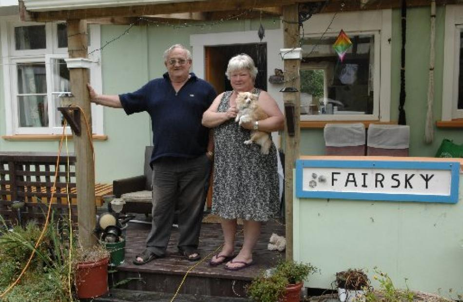 Rod and Robyn Ruddell, of Mosgiel, love their new crib at Aramoana.