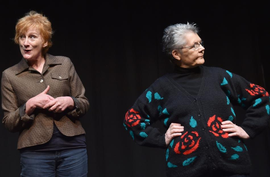 Ruth Wheeler (left) and Sandy Cleary in The Green at the Globe Theatre.