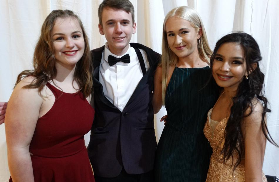 Noelle Brew (16), Travis Lanigan (16), Charlotte Bootsma (17) and Sophia Silva-Netto (17), of...