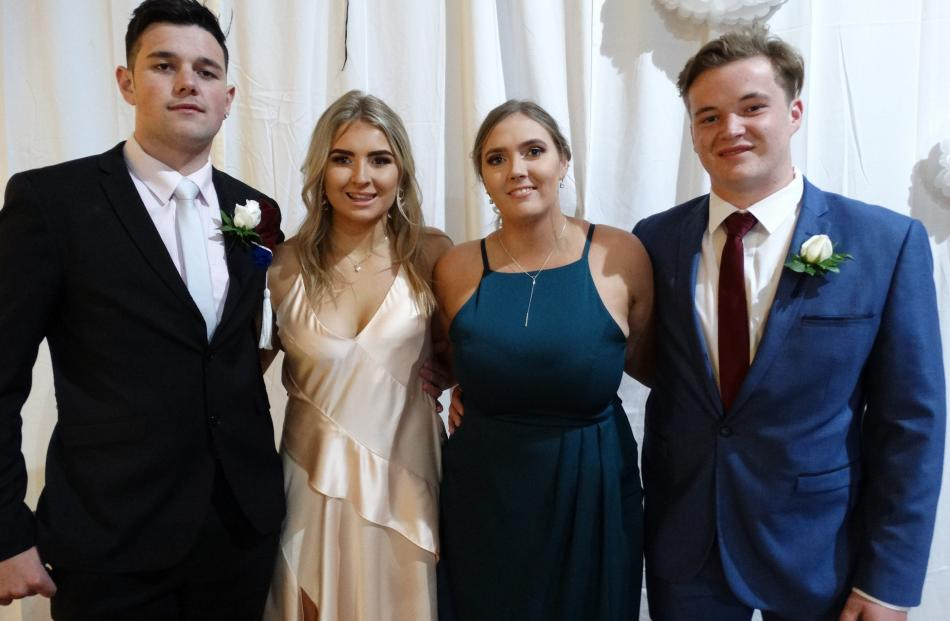 Tama Wooldridge (17), Georgia Oakes (18), Piper Beach (18) and Dylan Garaway (17), of Oamaru.