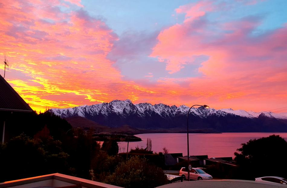 An amazing shot of the Remarkables taken from Fernhill, Queenstown. Photo: Lorna Townsend