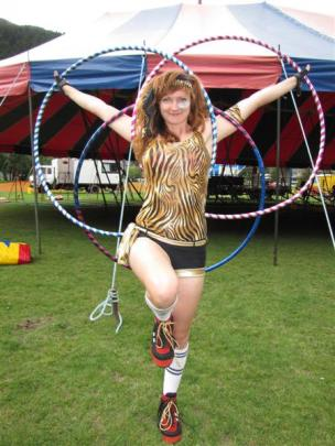 Circus Aotearoa hula-hooper and clown Briar Seyb-Hayden (27), of Christchurch.