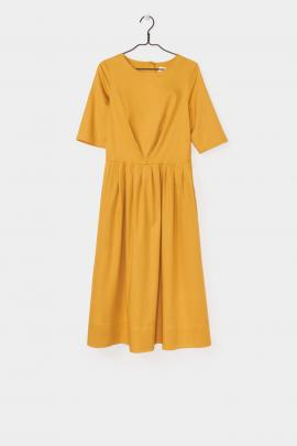 Kowtow Balance Chorus dress in gold