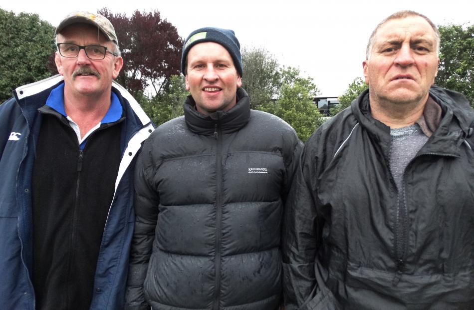 Garth McCone (left), Jarron Farmer and Darryl Taukamo, of Oamaru.