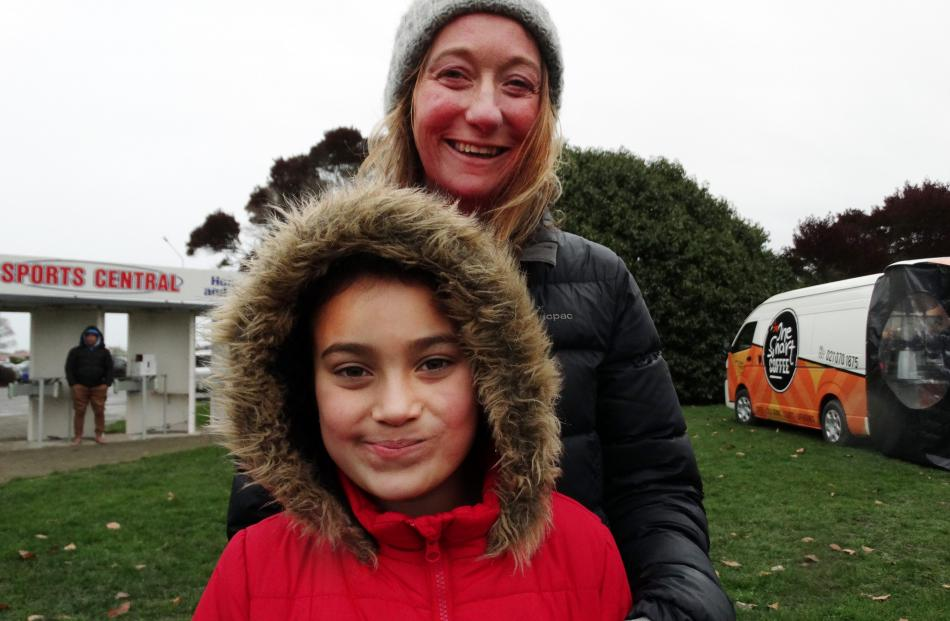 Charmaine Fisher and Luce Asi (8), of Oamaru.