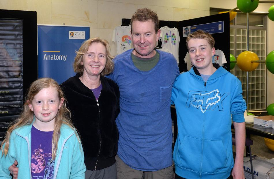Raelene and Ian Abernethy, of Dunedin, with their children Brie (11) and Dylan (14).