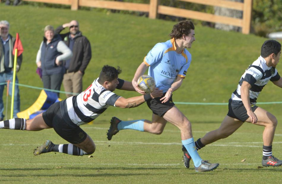 Action from today's premier club rugby match between University and Southern at the University...