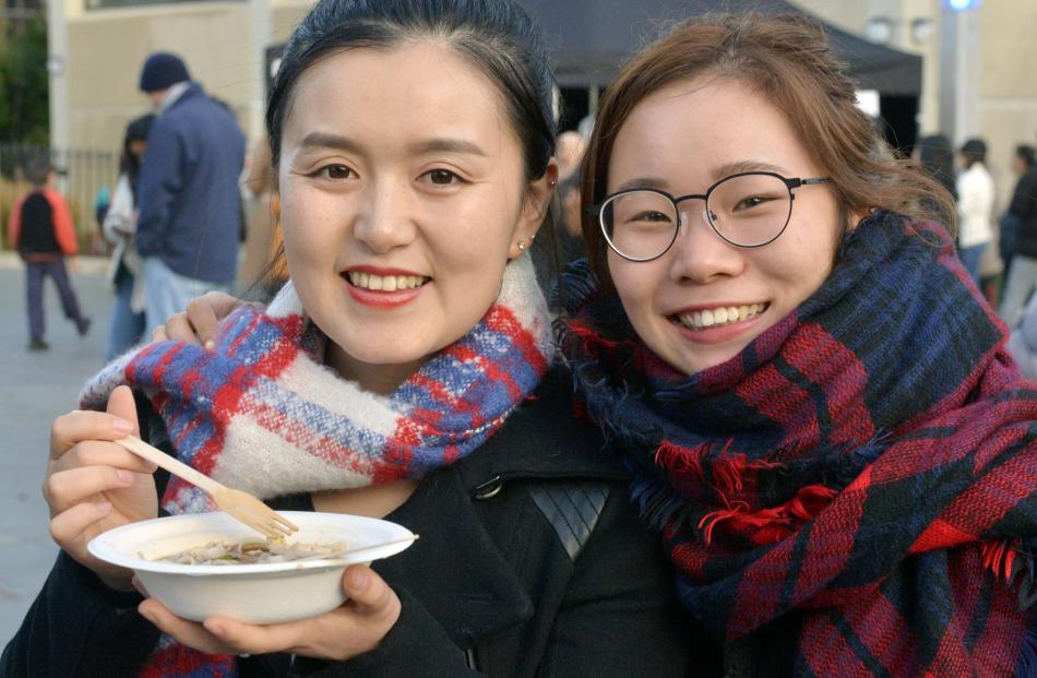 University students Sophia Zhao and Nikki Ye.
