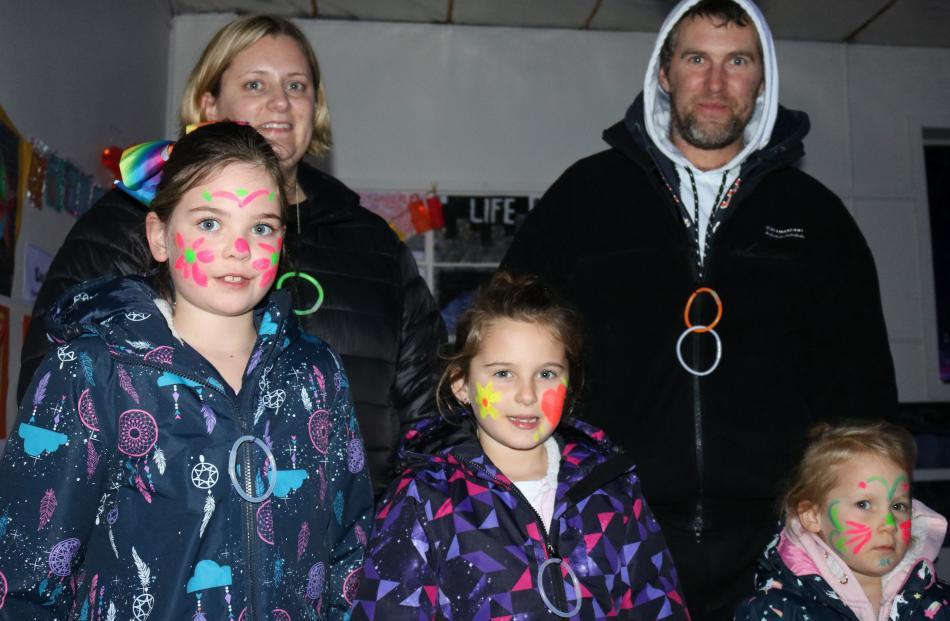 Sophie Bruhns (7), Kristy Davis, Arleigha (7), Stephen and Caylee (4) Blissett, all of Alexandra.