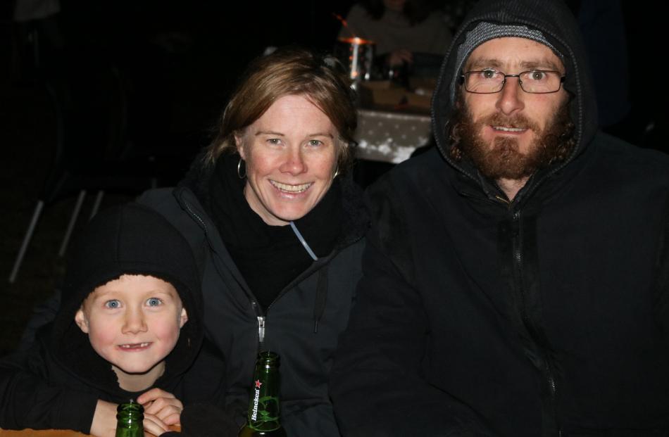 Mitchell Diack (5), Viannee Galbreath and Steve Diack, all of Alexandra.
