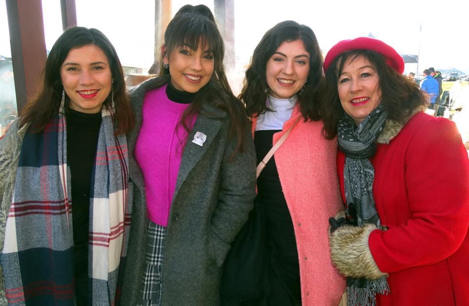 Victoria, Juliette, Lydia and Janet Bernard, all of Dunedin.
