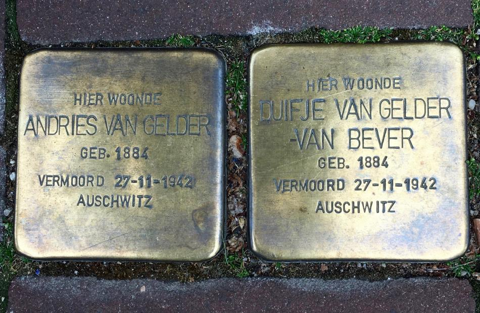 Stolpersteine, stumbling stones, intended as constant reminders of the horror of the Holocaust.