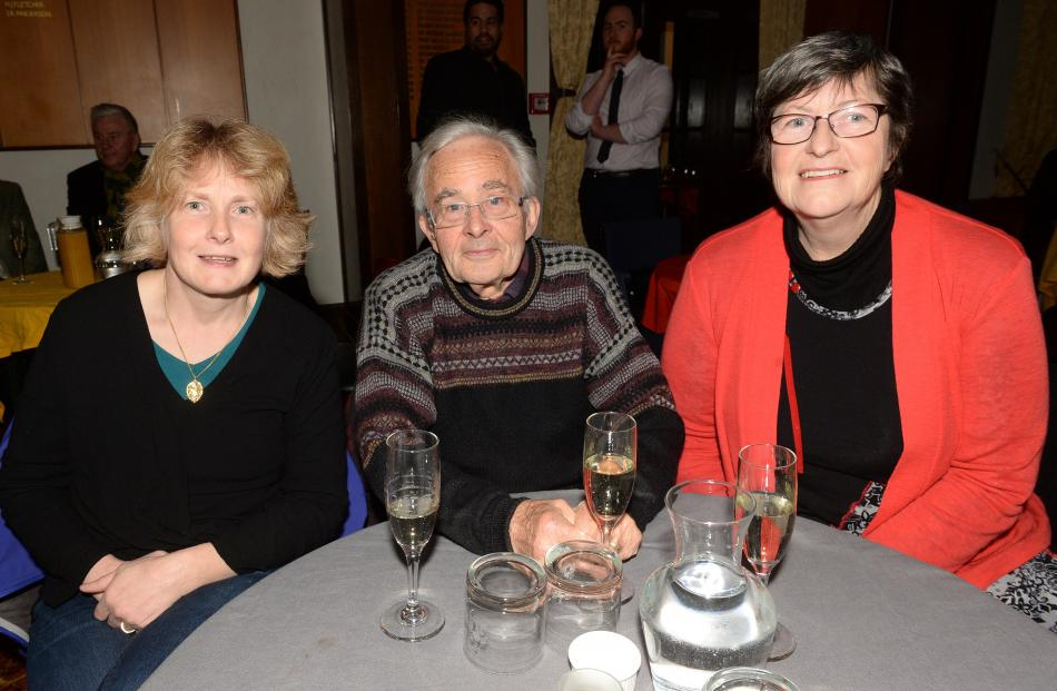 Tracey and Nigel Jamieson and Shona McDonald, all of Dunedin.
