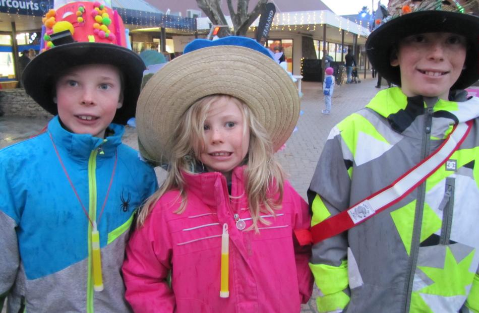 Ethan (8), Jessica (6) and Jack (10) Phipps, of Cromwell.