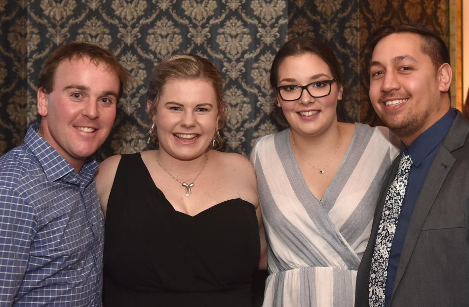 Brendan Morrison, Brittany Scott, Sarah McArley and Temaio Tamati-Stirling.