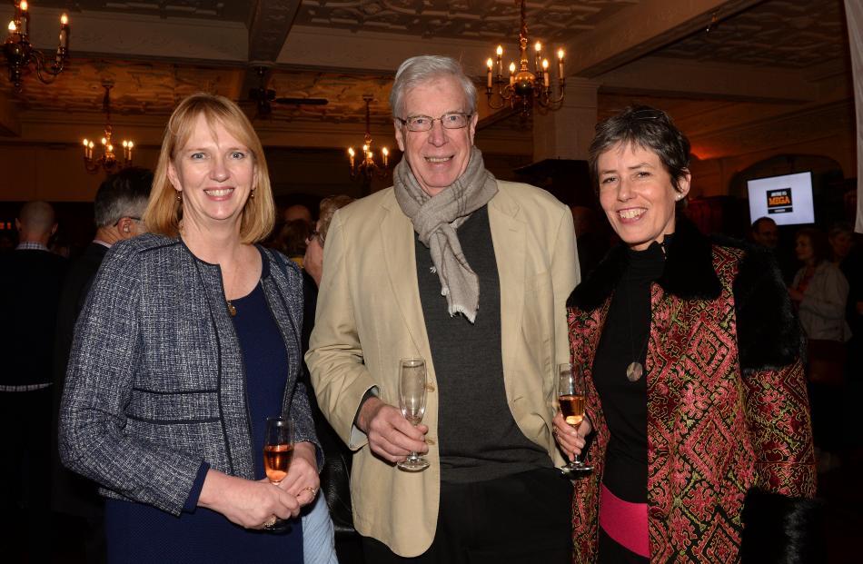 Barbara Bridger, Alister Robinson and Christine Ogilvy, all of Dunedin.