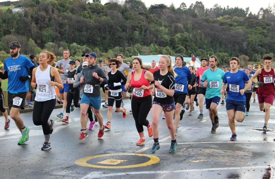 Half Marathon runners start the 2017 event.
